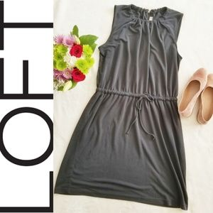 Ann Taylor LOFT Petite Dress Charcoal Size Large